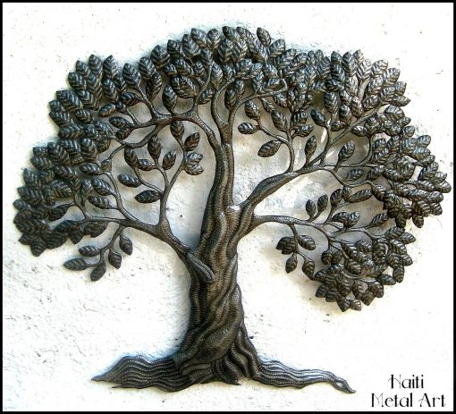 Tree Wall Hanging, Haitian Metal Art, Tree Of Life, Art Tree, Outdoor Wall Decor, Art, Haitian Art, 366