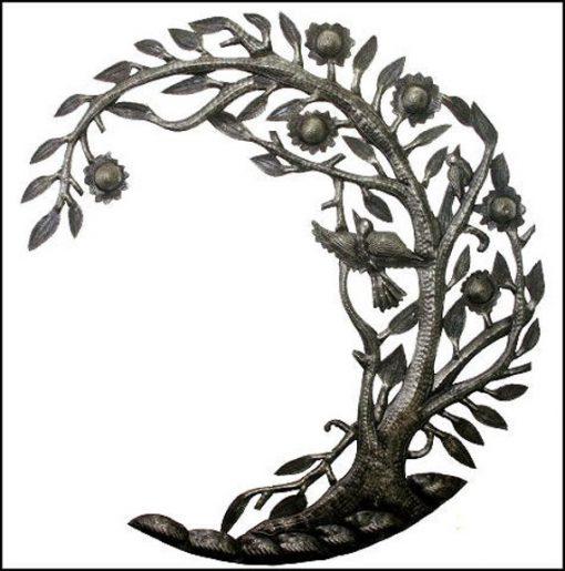 """Metal Wall Art, Metal Art, Wall Hanging, Recycled Steel Drum Haitian Outdoor Garden Art- 24"""" - 1663"""