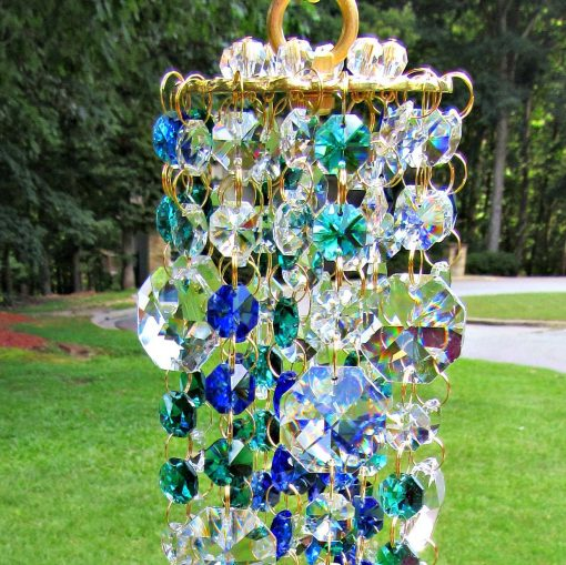 Garden Décor, Crystal Sun Catcher, Glass Wind Chime, House Warming Gift, Gift For Her, Wc117