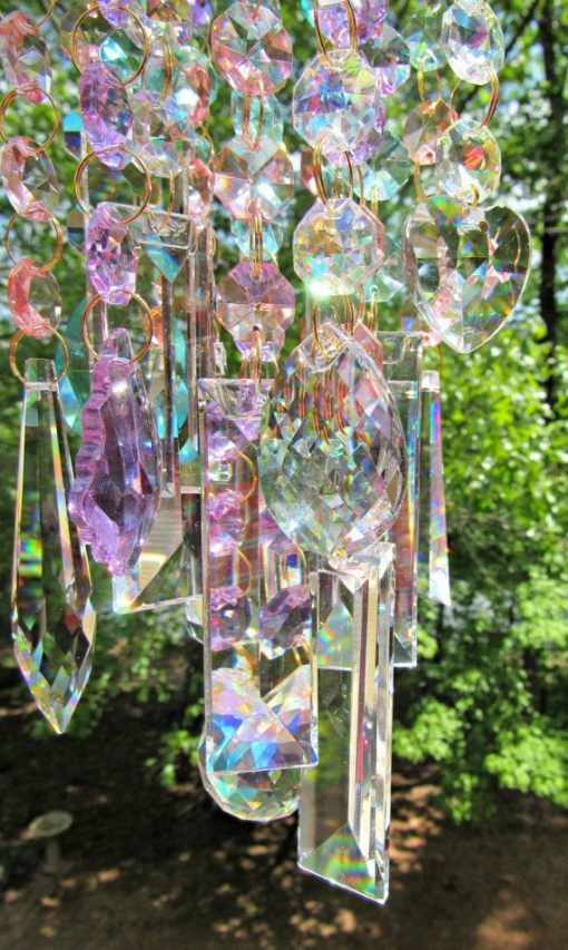 Ab Crystal Wind Chime, Sun Catcher, Glass Garden Décor, House Warming Gift, Gift For Her, Wc110