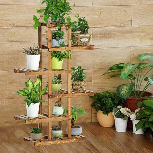 Large Multilayered 6 Tiers Wooden Indoor Plant Rack Stand Flower Pot Shelf Storage European Décor Style | Fathers Day Gift On Sale