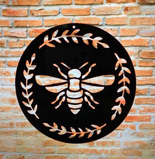 Metal Bee Art, Wall Lovers Sign Sculpture, Barn & Farmhouse Art