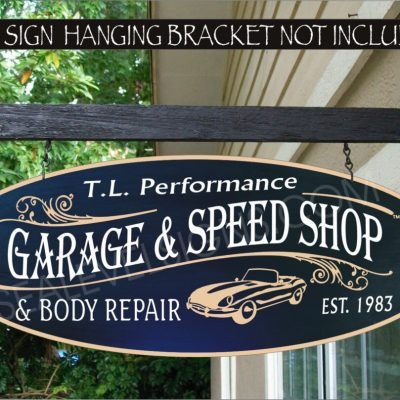 2019 Auto #901 Hot Rod Garage & Speed Shop Sign Custom Personalized Aluminum Core Painted Sign