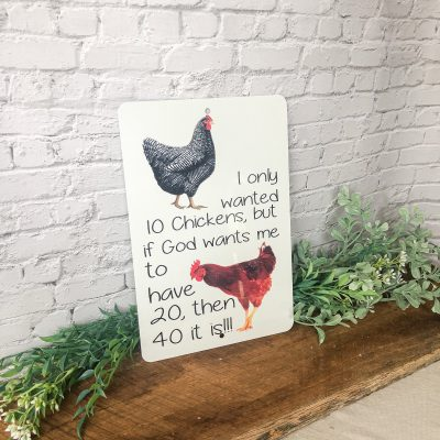 Chicken Sign For Lovers Math Funny Gift Parking Animal Coop