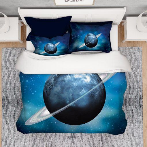 Blue Galaxy Comforter, Galaxy Duvet, Space Duvet, Stars Comforter, Quilts, Blanket, Art Duvet, Winter Duvet, Summer Comforter