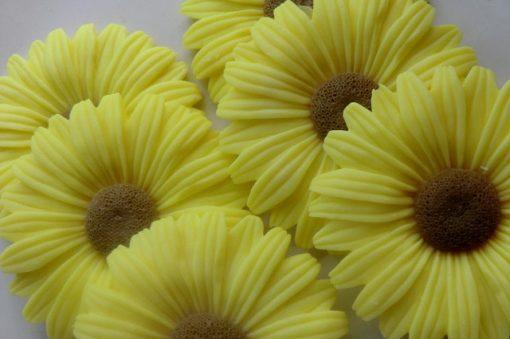 80 Sunflower Soap Favors - Garden Baby Shower Yellow Wedding Bridal Kids Birthday Favor