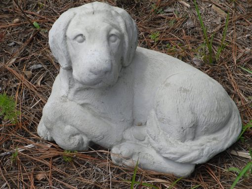 Outdoor Labrador Concrete Statue, Laying Lab, Pet Retriever Memorial, Dog Statues, Statues