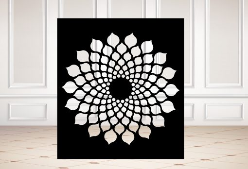 Square Metal Panel, Privacy Screen, Fence, Decorative Wall Art, Indoor & Outdoor - Sd13