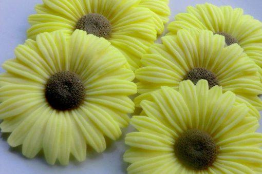 35 Sunflower Soap Favors - Garden Wedding Baby Shower Flower Birthday Bridal