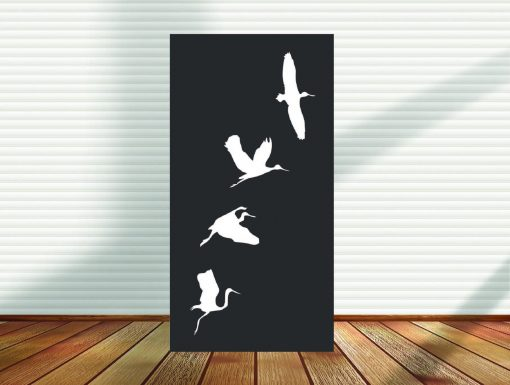 Metal Panel, Privacy Screen, Fence, Decorative Wall Art, Garden Indoor & Outdoor - Birds Of A Feather   Pid14