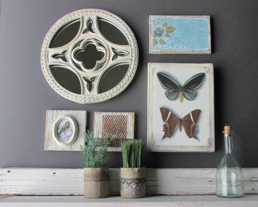 Wall Art Collage -Enchanted Garden - A 5 Piece Arrangement Farmhouse Decor -Home