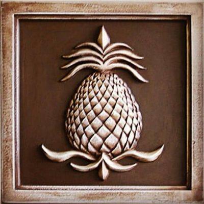 Pineapple Decor, Plaques, Farmhouse Garden Outdoor Handmade, Home Marie Ricci