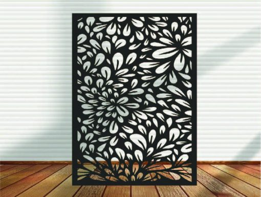 Metal Panel, Privacy Screen, Fence, Decorative Wall Art, Garden Indoor & Outdoor - A7