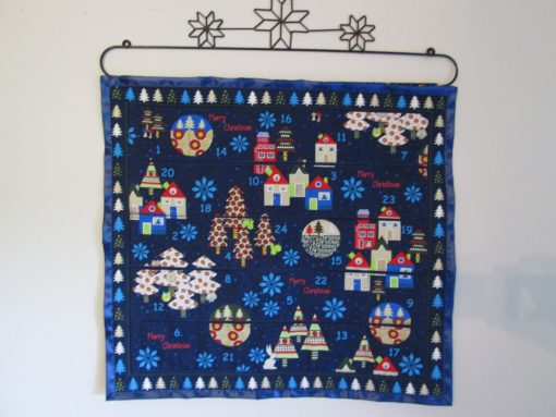 Advent Calendar Enchanted Forest in Blue By Stof, Scandinavian Christmas, Christmas Decoration, Holiday Decor, Fabric