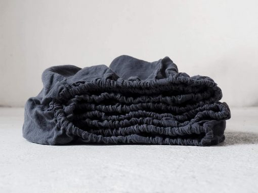 Charcoal Cotton Sheet/Bedding Set Pure Organic Fitted Sheet With 2 Matching Pillow Cases