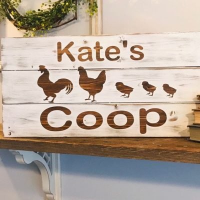 Chicken, Chicken Decor, Sign, Farmhouse Chickens, Custom Coop Signs, Personalized