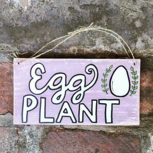 Chicken Coop Sign, Egg Plant Wood Pallet Sign