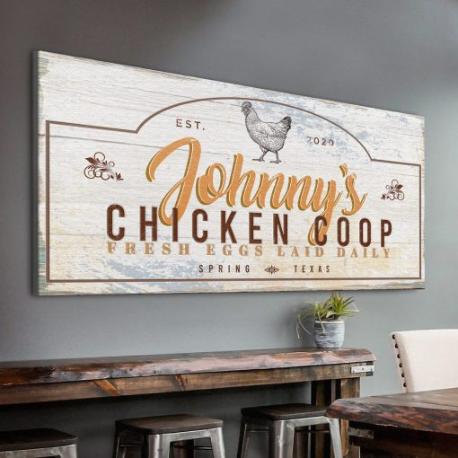 Chicken Coop Sign Hen House Custom Chicken Poultry Sign Farm For Farm Gift Fresh Farmhouse