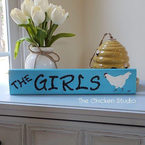 Chicken Coop Sign, The Girls, Hen House, Chicken Decor, Wood, Farm Sign, Coop Exterior, Hens