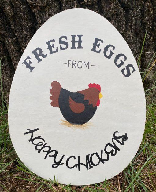 Chicken Coop Sign~Fresh Eggs From Happy Chickens~Chicken Coop Decor~Backyard Chickens