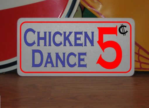 Chicken Dance 5 Cents Metal Sign For Farm Ranch Barn Stables Coop