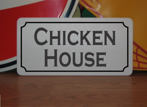 Chicken House Metal Sign For Barn Coop Farm Ranch Or Kitchen Decor