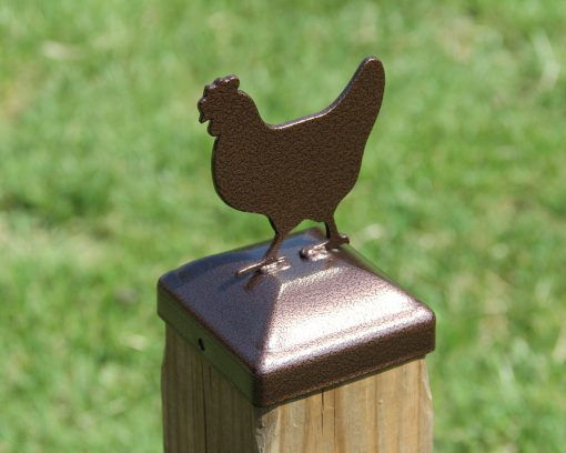 """Chicken Post Cap For 4x4 Wood Post, Hen Topper, Coop Decor Finial 3-1/2"""" Actual Size"""