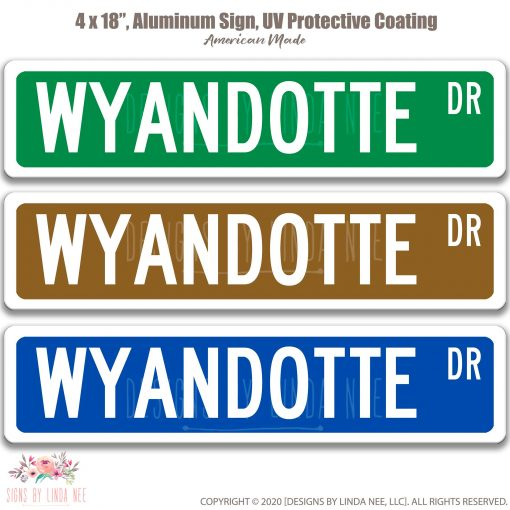 Chicken Sign, Coop Sign Wyandotte Gift Lover Custom Owner Metal Novelty Pis184