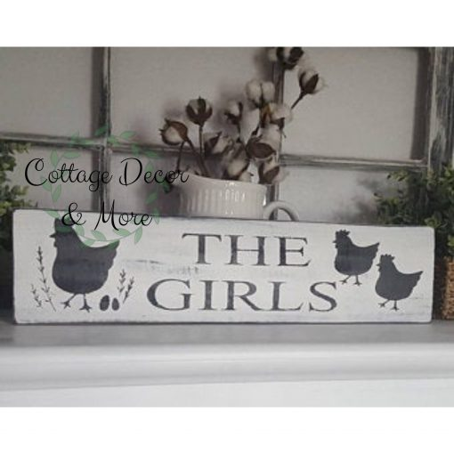 Chicken Sign, Farmhouse Chicken Coop Decor, Decor