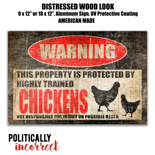 Chicken Sign Funny Coop Decor Barn Gift Lover Farm Crazy Lady Pis14
