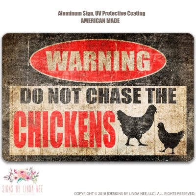 Chicken Sign Funny Coop Decor Barn Gift Lover Farm Crazy Lady Pis57