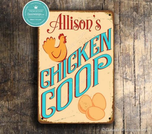 Custom Chicken Coop Sign, Customizable Chicken Coop Signs, Vintage Style Sign, Outdoor Signs