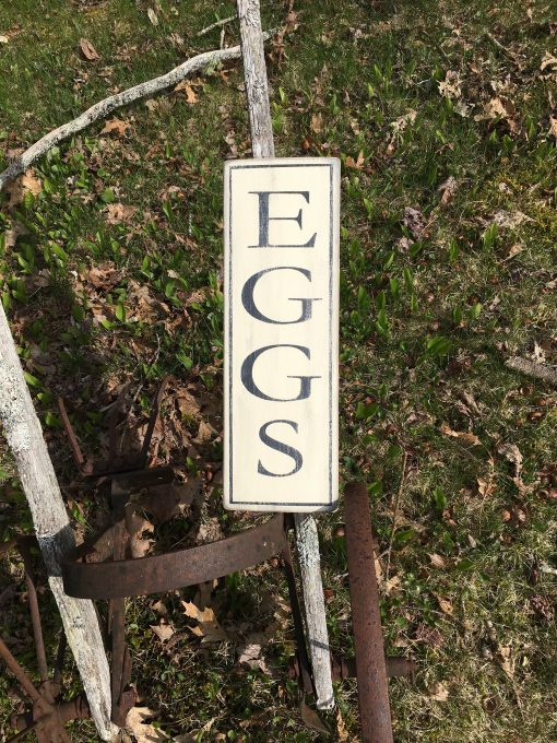 Eggs Sign, Farmhouse Style Hand Painted Sign