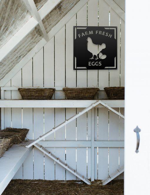 Farm Fresh Eggs Sign, Chicken Gifts, Farmhouse Wall Decor, Custom Metal Decor