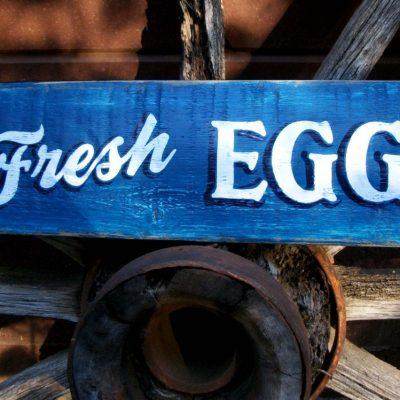 Fresh Eggs Sign. Chicken Coop. Hen Home Decor