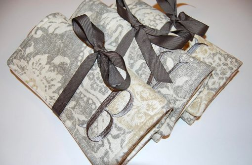 Jewelry Roll Bag, Travel Case, Organizer, Accessory Pouch, Personalized Gift, Bridesmaids' Set Of 3