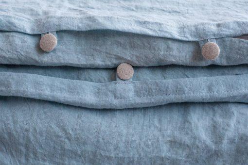 Linen Duvet Cover, King Size Blanket, Sky Blue Duvet, Organic Bedding, Comforter, New Home Gift