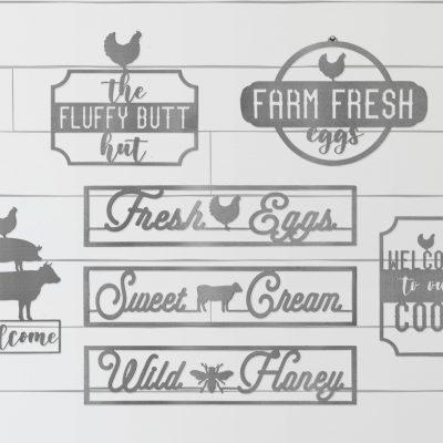 Metal Farmhouse Signs
