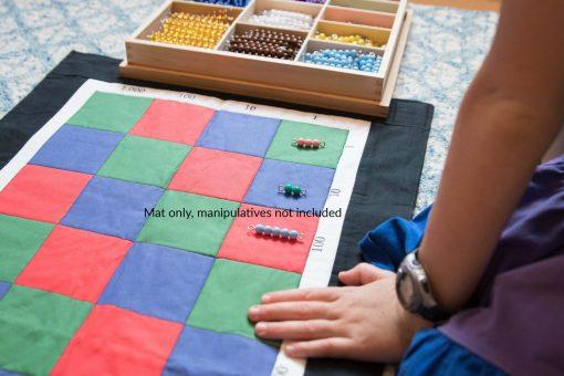 Montessori, Mat For Montessori Checkerboard Multiplication, Materials, Math