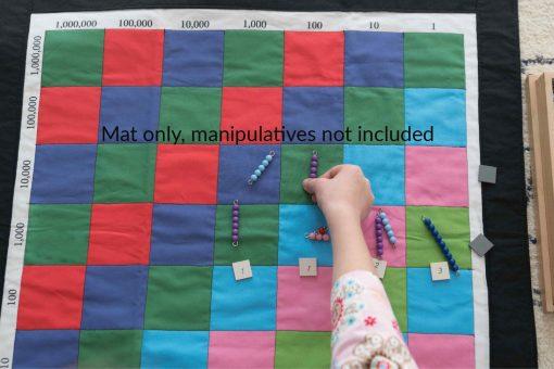 Montessori, Montessori Math, Decimal Checkerboard Mat, Materials, Elementary, Multiplication