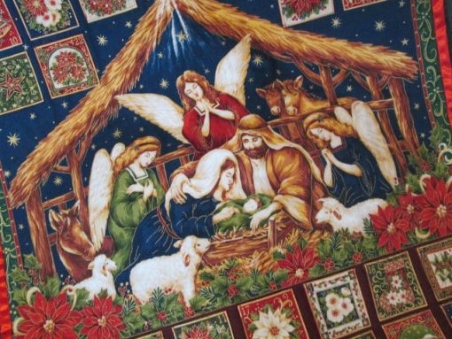 Nativity Advent Calendar, Christmas Wallhanging