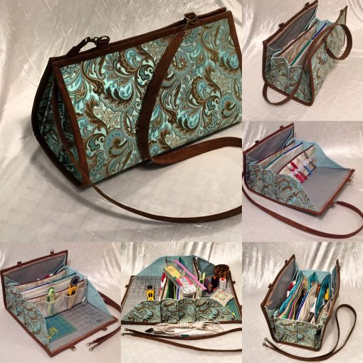 Organizer Bag For Sewing Or Beading, With Ironing Pad Detachable Bead Mat, 10 Pockets & Plenty Room in Between Boxes & Containers