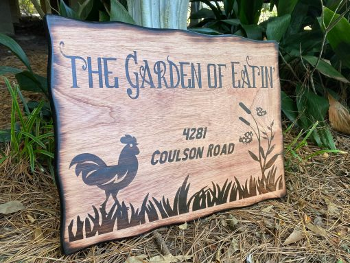 Outdoor Wood Chicken Coop Sign, Large Personalized Wall Decor, Rustic Farmhouse Hen & Rooster, Western
