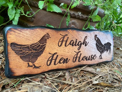 Personalized Chicken Farm Sign Decor, Large Outdoor Wood Coop Decoration, Hen & Rooster, Rustic Western, Farmhouse, Free Shipping