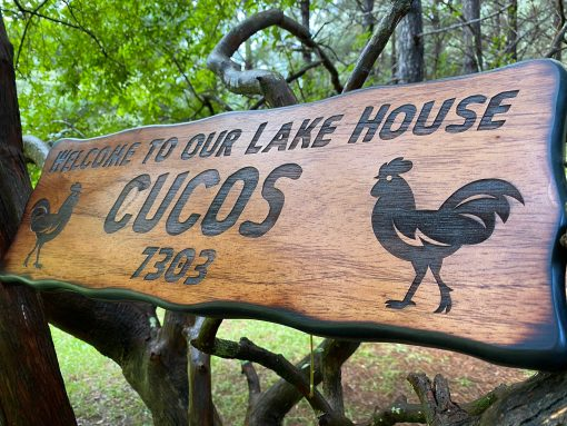Personalized Farm House Address Sign, Outdoor Wood, Large Chicken Coop Decoration, Hen & Rooster, Rustic Western, Free Shipping