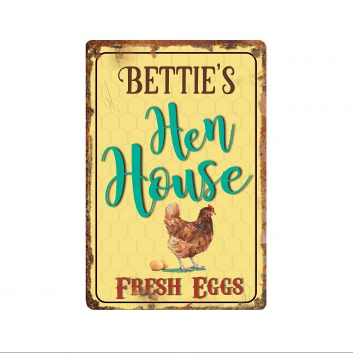 Personalized Hen House Sign, Chicken Coop, Coop House, Eggs For Sale, Rooster Sign, Free Shipping & Personalization