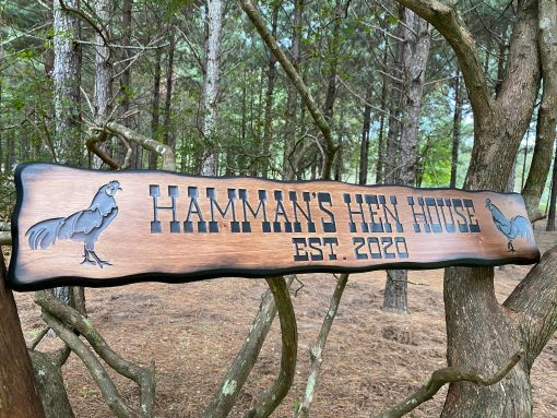 Personalized Outdoor Chicken Coop Sign, Rooster Decoration, Rustic Farm Custom Western Art, Farmhouse