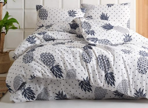 Pure Cotton Queen - Twin Pineapple Bedding Set/Gray Duvet Cover Quilt Boys