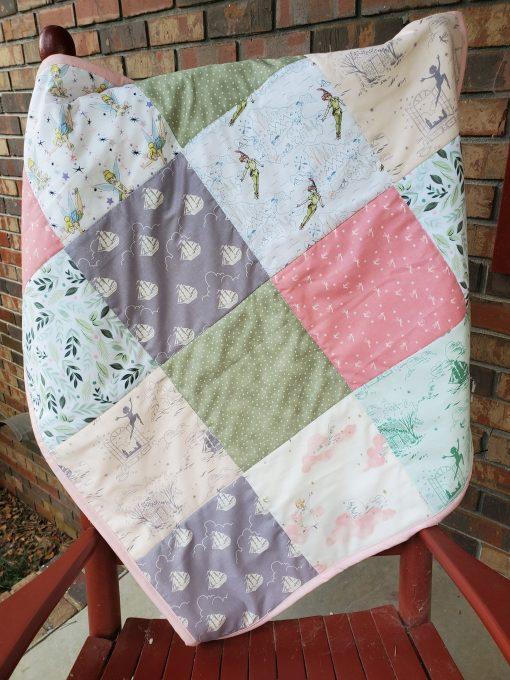 Tinker Bell Baby Quilt, Peter Pan Baby Blanket