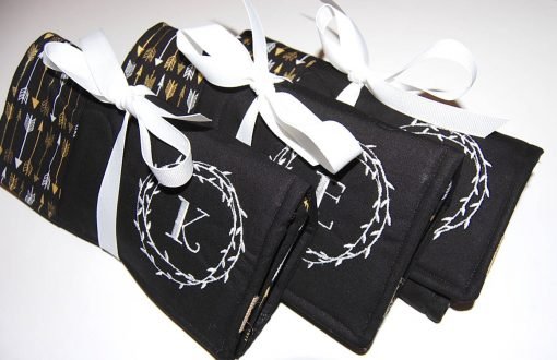 Travel Jewelry Case, Set Of 3, Bridesmaid Gift, Wedding Party Favor, Roll, Bag, Organizer, Gift